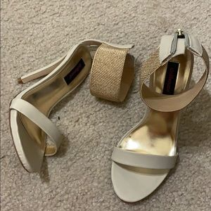 Beige heels size 5.5 by dollhouse.